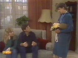 Jane Harris, Joe Mangel, Nell Mangel in Neighbours Episode 0842
