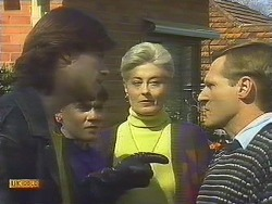 Mike Young, Jessie Ross, Adele Ross, Mr. Ross in Neighbours Episode 0843