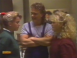Bronwyn Davies, Henry Ramsay, Sharon Davies in Neighbours Episode 0844