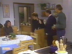 Beverly Marshall, Gail Robinson, Paul Robinson, Jim Robinson in Neighbours Episode 0844