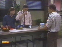 Mike Young, Des Clarke, Malcolm Clarke in Neighbours Episode 0845