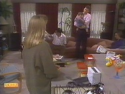 Bronwyn Davies, Malcolm Clarke, Jamie Clarke, Des Clarke, Mike Young in Neighbours Episode 0845