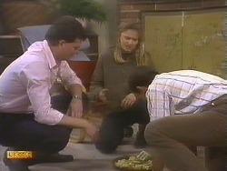 Des Clarke, Bronwyn Davies, Malcolm Clarke in Neighbours Episode 0845