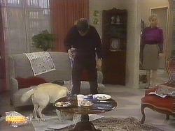 Bouncer, Joe Mangel, Jane Harris in Neighbours Episode 0845