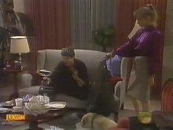 Joe Mangel, Bouncer, Jane Harris in Neighbours Episode 0845