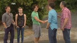 Lucas Fitzgerald, Ringo Brown, Declan Napier, Zeke Kinski, Karl Kennedy in Neighbours Episode 5938