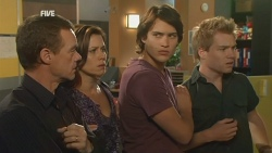Paul Robinson, Rebecca Napier, Declan Napier, Ringo Brown in Neighbours Episode 5942