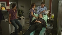 Declan Napier, Rebecca Napier, Paul Robinson, Karl Kennedy in Neighbours Episode 5942