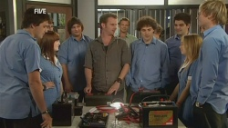 Chris Pappas, Summer Hoyland, Lucas Fitzgerald, Harry Ramsay, Natasha Williams, Andrew Robinson in Neighbours Episode 5943
