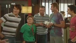 Declan Napier, Callum Jones, Karl Kennedy, Michael Williams, Zeke Kinski in Neighbours Episode 5944