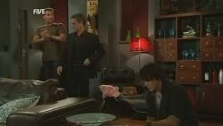 Lucas Fitzgerald, Paul Robinson, Declan Napier in Neighbours Episode 5950