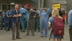 Lucas Fitzgerald, Chris Pappas, Summer Hoyland, Natasha Williams in Neighbours Episode 5950