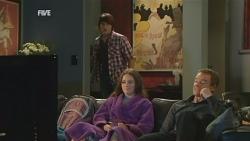 Declan Napier, Sophie Ramsay, Paul Robinson in Neighbours Episode 5950