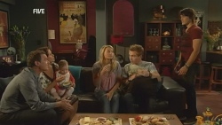 Paul Robinson, Rebecca Napier, India Napier, Donna Freedman, Ringo Brown, Declan Napier in Neighbours Episode 5951