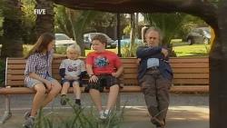 Sophie Ramsay, Charlie Hoyland, Callum Jones, Terry Kearney in Neighbours Episode 5951