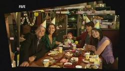 Paul Robinson, Rebecca Napier, India Napier, Declan Napier, Kate Ramsay in Neighbours Episode 5952