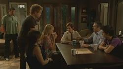 Toadie Rebecchi, Ringo Brown, Libby Kennedy, Donna Freedman, Susan Kennedy, Karl Kennedy, Zeke Kinski in Neighbours Episode 5954