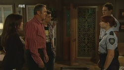 Libby Kennedy, Karl Kennedy, Zeke Kinski, Constable Simone Page, Police Officer in Neighbours Episode 5957