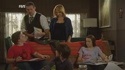 Callum Jones, Toadie Rebecchi, Steph Scully, Ben Kirk, Sophie Ramsay in Neighbours Episode 5960