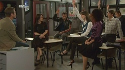 Michael Williams, Libby Kennedy, Lucas Fitzgerald, Kate Ramsay, Cassie Hillman, Matt Parelli in Neighbours Episode 5968