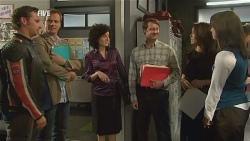 Lucas Fitzgerald, Michael Williams, Cassie Hillman, Matt Parelli, Libby Kennedy, Kate Ramsay in Neighbours Episode 5968