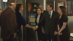 Michael Williams, Lucas Fitzgerald, David Whitaker, Libby Kennedy in Neighbours Episode 5975
