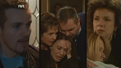 Toadie Rebecchi, Susan Kennedy, Libby Kennedy, Karl Kennedy, Steph Scully, Lyn Scully in Neighbours Episode 5977
