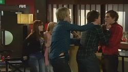 Summer Hoyland, Natasha Williams, Andrew Robinson, Chris Pappas, Kyle Canning in Neighbours Episode 5985