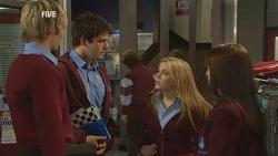 Andrew Robinson, Chris Pappas, Natasha Williams, Summer Hoyland in Neighbours Episode 5986