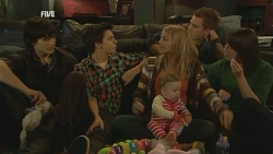 Declan Napier, Zeke Kinski, India Napier, Donna Freedman, Ringo Brown, Kate Ramsay in Neighbours Episode 5990