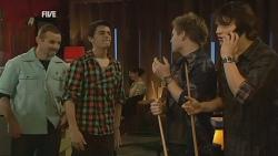 Toadie Rebecchi, Zeke Kinski, Ringo Brown, Declan Napier in Neighbours Episode 5990
