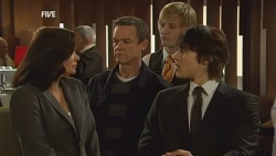 Diana Marshall, Paul Robinson, Andrew Robinson, Declan Napier in Neighbours Episode 5991