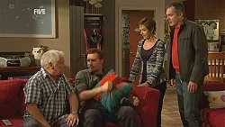 Lou Carpenter, Lucas Fitzgerald, Susan Kennedy, Karl Kennedy in Neighbours Episode 5991