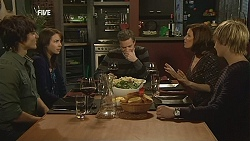 Declan Napier, Kate Ramsay, Paul Robinson, Rebecca Napier, Andrew Robinson in Neighbours Episode 5991