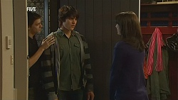 Zeke Kinski, Declan Napier, Kate Ramsay in Neighbours Episode 5992