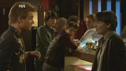 Ringo Brown, Declan Napier, Zeke Kinski, Prue Brown in Neighbours Episode 5992