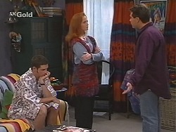 Luke Handley, Ren Gottlieb, Mark Gottlieb in Neighbours Episode 2411