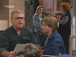 Lou Carpenter, Libby Kennedy, Brett Stark, Cheryl Stark in Neighbours Episode 2411
