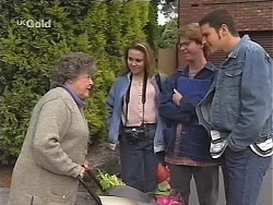 Marlene Kratz, Libby Kennedy, Brett Stark, Luke Handley in Neighbours Episode 2411