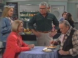 Libby Kennedy, Helen Daniels, Lou Carpenter, Old Sid in Neighbours Episode 2411