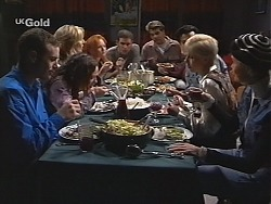Stonie Rebecchi, Cody Willis, Jen Handley, Ren Gottlieb, Luke Handley, Mark Gottlieb, Sam Kratz, Lucy Robinson, Joanna Hartma in Neighbours Episode 2413
