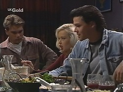Mark Gottlieb, Annalise Hartman, Sam Kratz in Neighbours Episode 2413