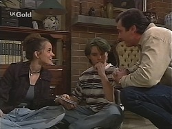 Olivia Rezzara, Billy Kennedy, Karl Kennedy in Neighbours Episode 2414