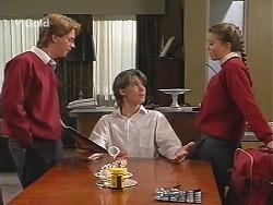 Brett Stark, Billy Kennedy, Libby Kennedy in Neighbours Episode 2415