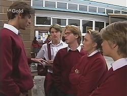 Malcolm Kennedy, Billy Kennedy, Brett Stark, Libby Kennedy, Danni Stark in Neighbours Episode 2415