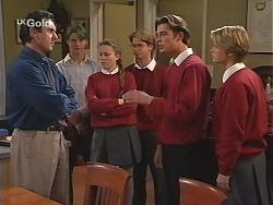 Karl Kennedy, Billy Kennedy, Libby Kennedy, Brett Stark, Malcolm Kennedy, Danni Stark in Neighbours Episode 2415