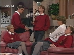 Danni Stark, Malcolm Kennedy, Brett Stark, Billy Kennedy, Libby Kennedy in Neighbours Episode 2415