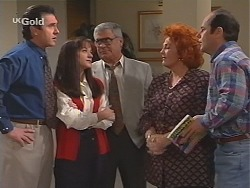 Karl Kennedy, Susan Kennedy, Lou Carpenter, Cheryl Stark, Philip Martin in Neighbours Episode 2416