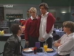 Stonie Rebecchi, Danni Stark, Malcolm Kennedy, Billy Kennedy in Neighbours Episode 2416