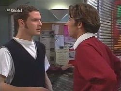 Stonie Rebecchi, Malcolm Kennedy in Neighbours Episode 2417